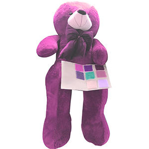Oso de peluche color rosa