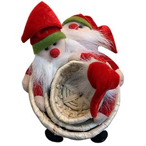 Juego de 3 canastas diseño Santa