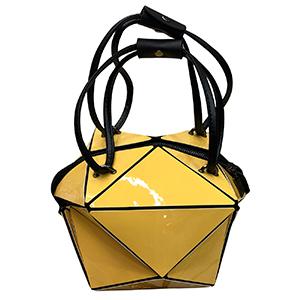 Bolsa para dama diseño cubo amarilla
