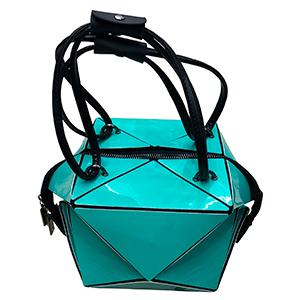 Bolsa para dama diseño cubo verde