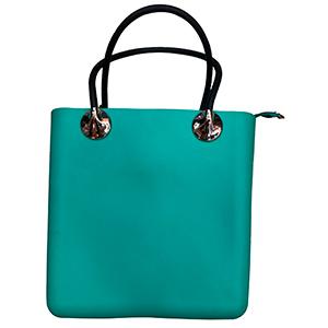 Bolsa para dama de plastico verde