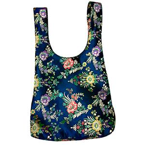Bolsa diseño blusa azul turquesa con flores Oriental