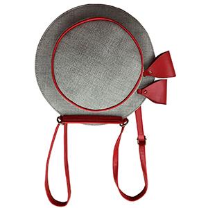 Bolsa para dama gris con rojo
