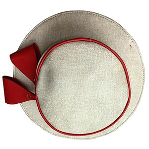 Bolsa diseño sombrero color rojo