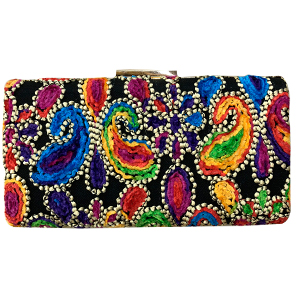Bolsa de mano negra diseño a colores
