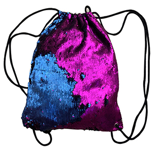BackPack de lentejuelas azul con cambio de color a rosa