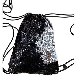 BackPack de lentejuelas plata con cambio de color a negro
