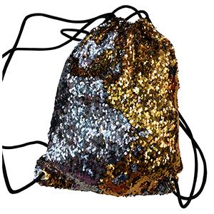 BackPack de lentejuelas plata con cambio de color a dorada