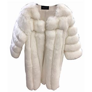 Abrigo afelpado blanco