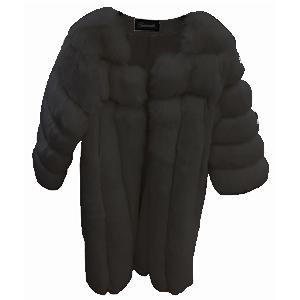 Abrigo afelpado negro