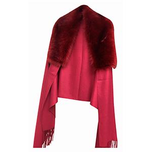 Poncho afelpado rojo