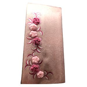 Pashmina rosa de acrilan con flores
