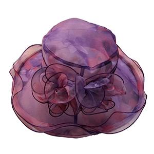 Sombrero con encaje morado