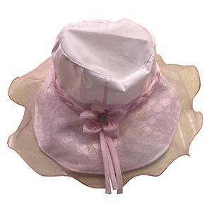 Sombrero con encaje rosa