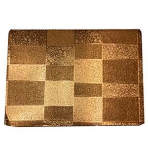Mantel individual rectangular diseño cuadros dorados