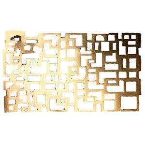 Mantel individual rectangular calado dorado