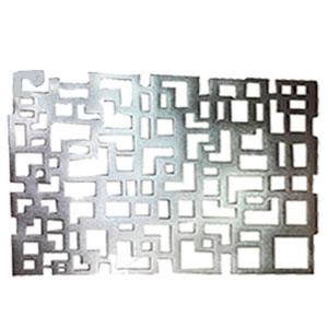 Mantel individual rectangular calado plata
