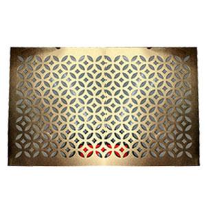 Mantel individual rectangular diseño rombos calado dorado