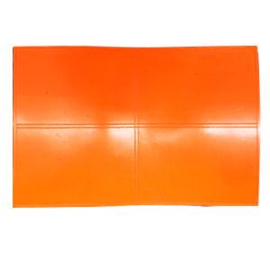Mantel individual rectangular rojo
