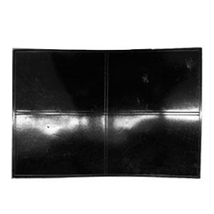 Mantel individual rectangular negro