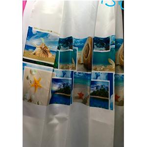 Cortina de baño diseño postales marinas