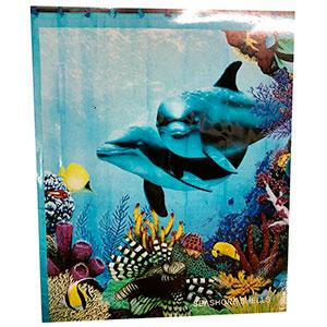 Cortina de baño diseño Delfines