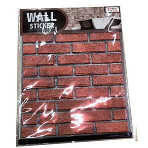 Tapete para pared diseño ladrillos rojos