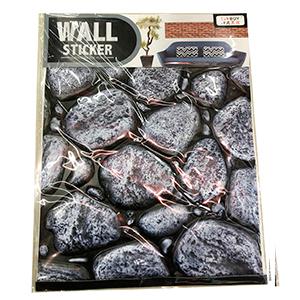Tapete de pared diseño piedras grises