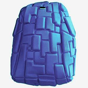 Mochila con diseño 3D azul