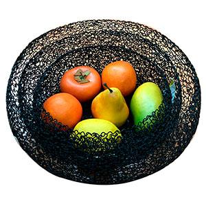 Frutero de alambron negro