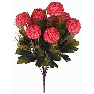 Ramo con flores reondas rosas con follaje