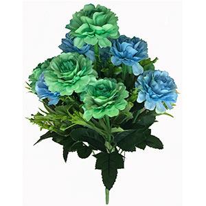 Ramo con flores azules con verde