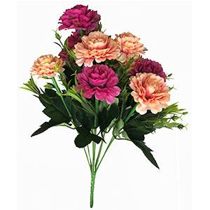Ramo con flores rosas y fiusha