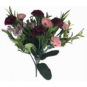 Ramo de claveles morados y rosas